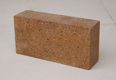China MgO Content 92% - 99% Insulating Fire Brick , Fired Magnesia Brick Brown Color supplier