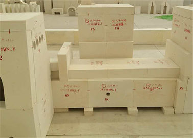 China White Color Corundum Furnace Refractory Bricks Al2O3 Content ≥50% With High Compression Resistance factory