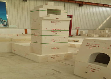 China High Temperature White Kiln Refractory Bricks , Fused Alumina Zirconia Brick Long Lifetime factory