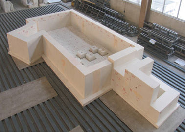 China Fused Cast Corundum AZS Brick Bulk Density ≥3.85g/cm3 High Refractoriness distributor
