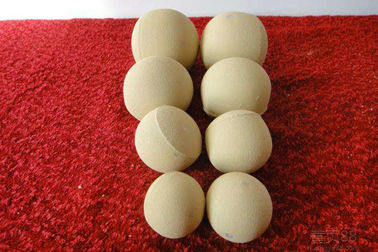 AL2O3 65% Inert Alumina Balls , Castable Alumina Ceramic Ball Customized Size